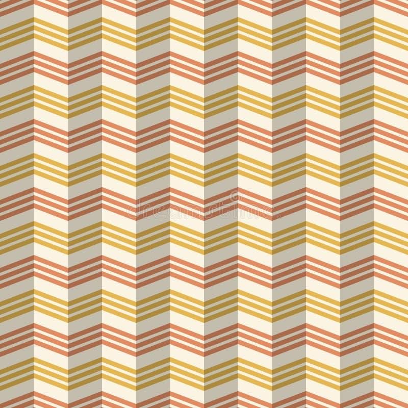 Modèle géométrique de mode sans couture abstraite Modèle stylisé de chevron coloré avec l'effet d'ombre illustration stock