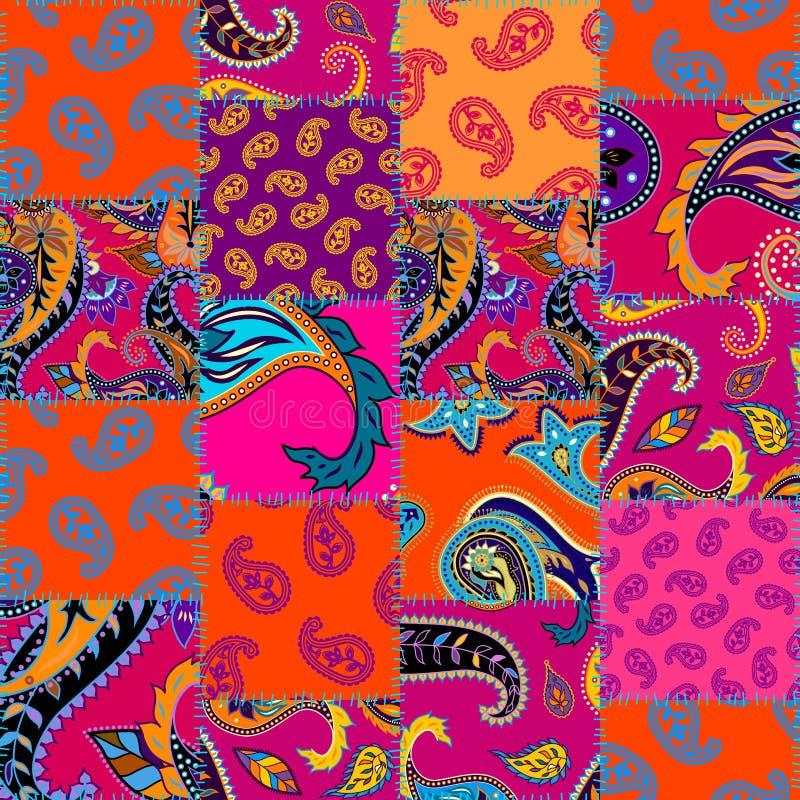 Modèle géométrique de patchwork de places illustration de vecteur