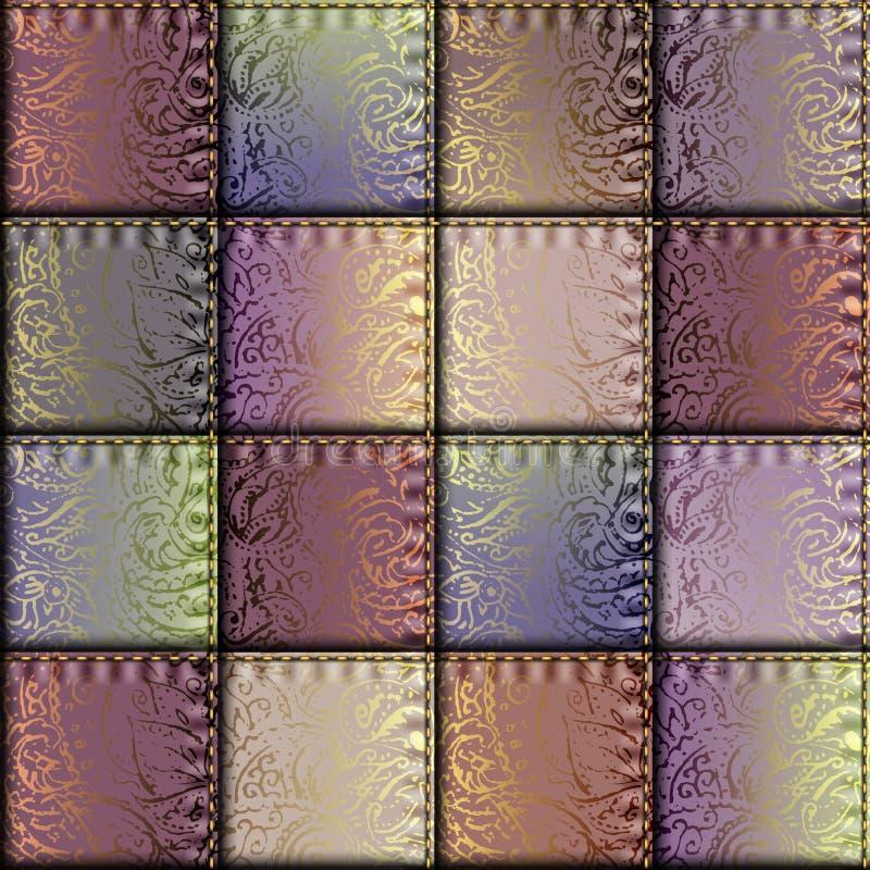 Modèle géométrique de patchwork de places illustration libre de droits