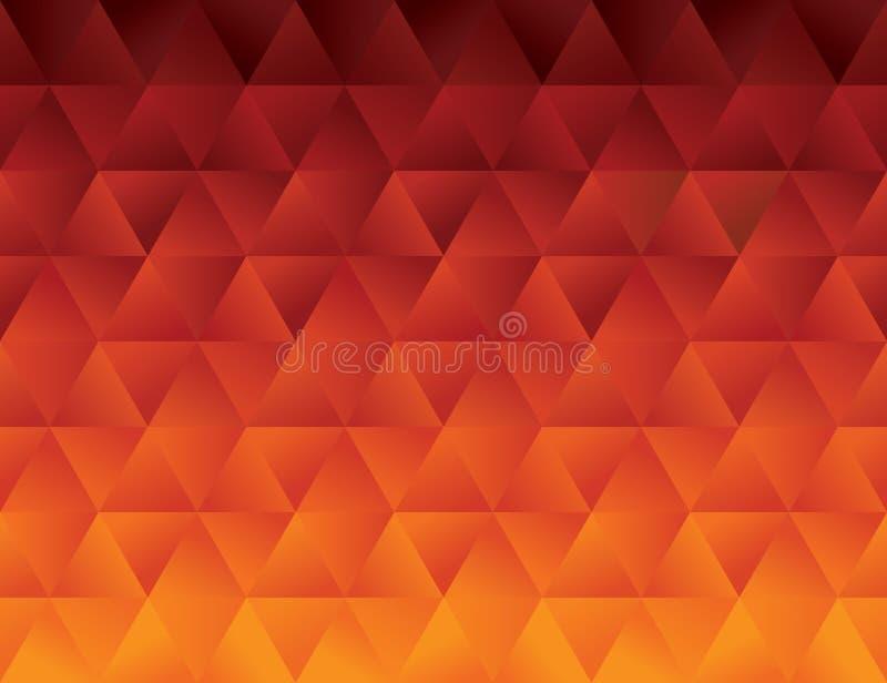 Modèle géométrique de polygone abstrait d'un rouge ardent illustration libre de droits