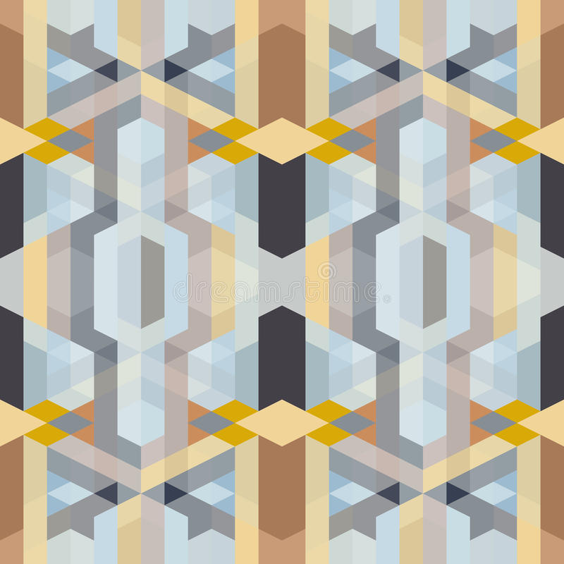 Modèle géométrique de rétro art déco abstrait illustration stock