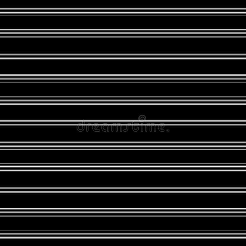 Modèle géométrique de rayure sans couture noire et blanche illustration stock