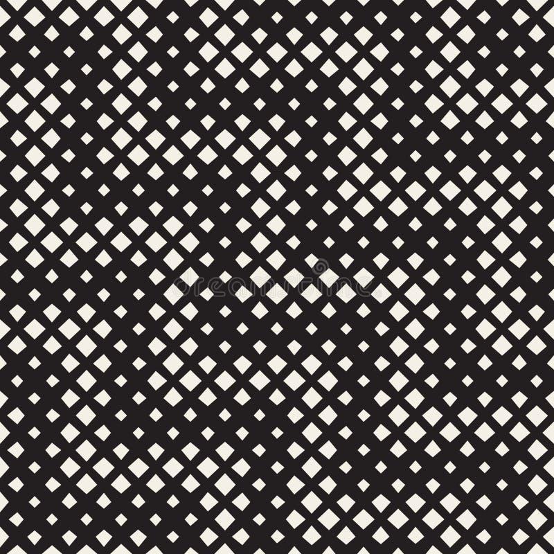 Modèle géométrique de rectangles tramés noirs et blancs sans couture de zigzag de vecteur illustration de vecteur