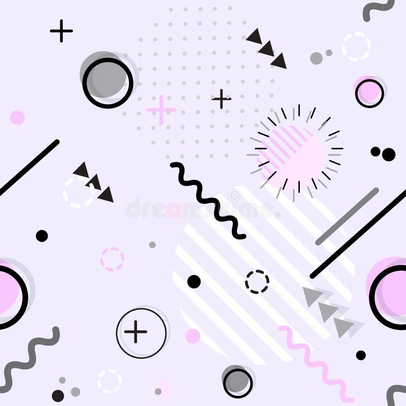 Modèle géométrique de style sans couture à la mode de Memphis, vecteur illustration libre de droits