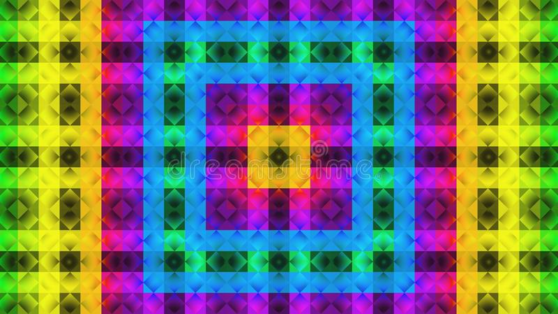 Modèle géométrique de textile Configuration colorée image libre de droits