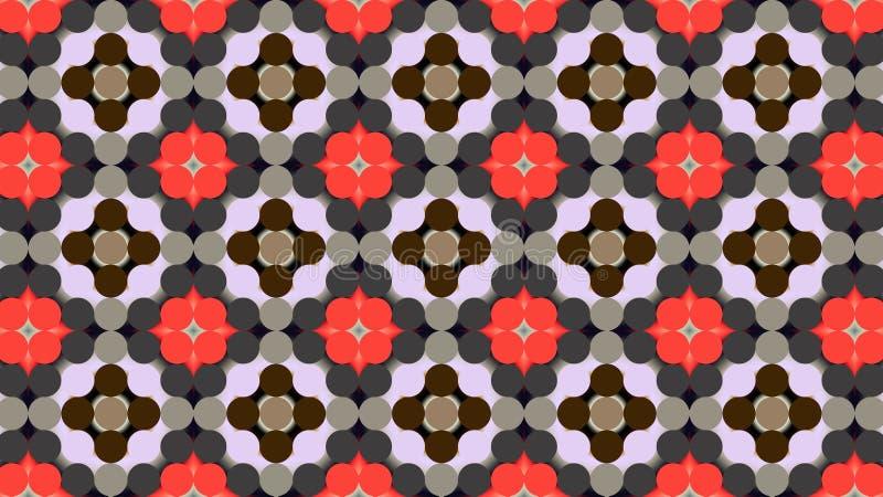 Modèle géométrique de textile Le modèle floral stylisé image stock