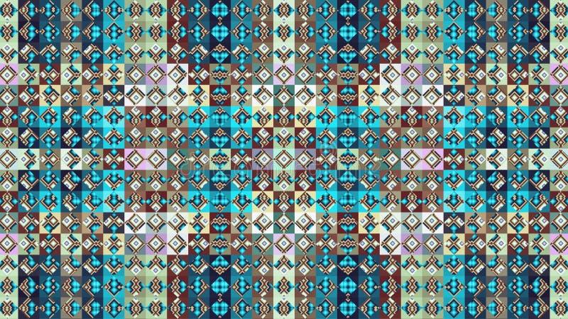Modèle géométrique de textile Losanges et places rapiéçage illustration stock