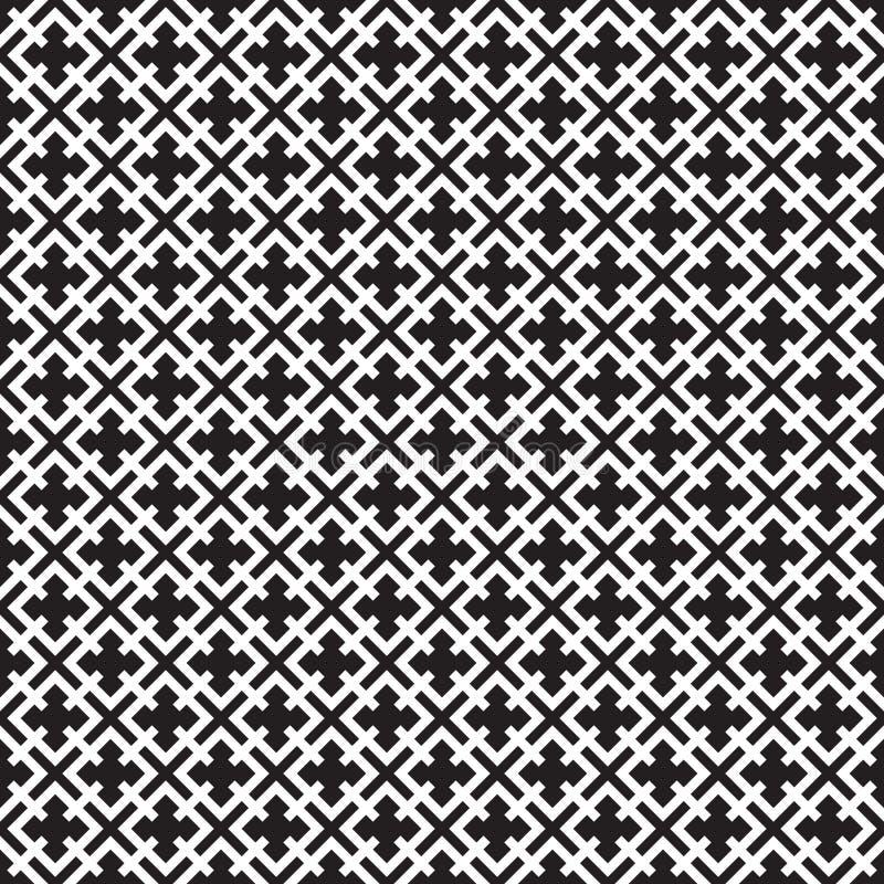 Modèle géométrique de treillis de trellis de vintage sans couture illustration stock