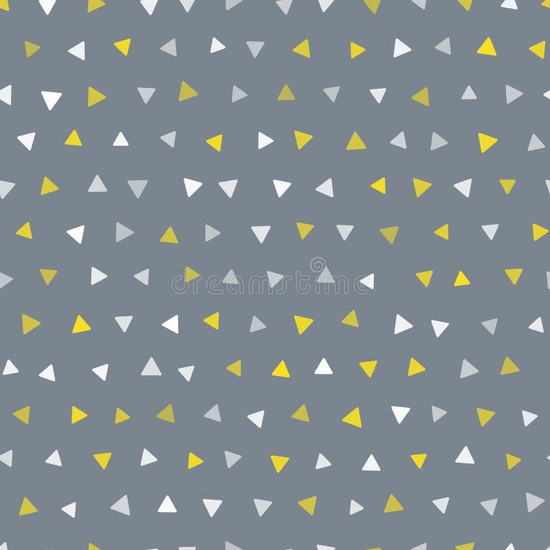 Modèle géométrique de triangle à la mode sans couture de vecteur illustration de vecteur