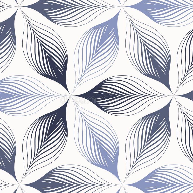 Modèle géométrique de vecteur, répétant le pétale ou les feuilles abstraites de fleur de texture de tuile, la couleur de ton deux illustration stock