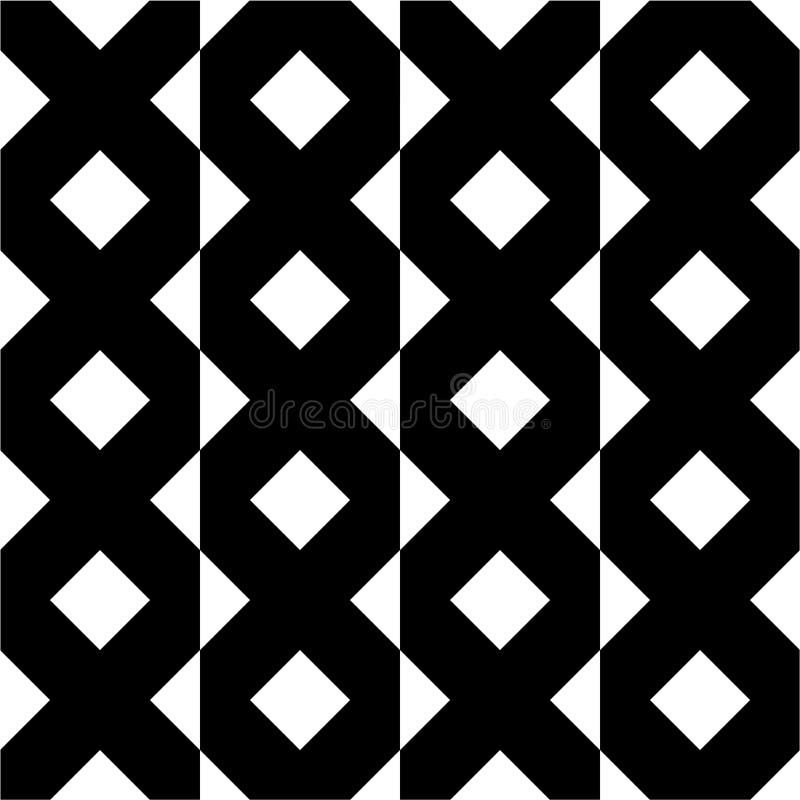 Modèle géométrique de vintage sans couture illustration libre de droits