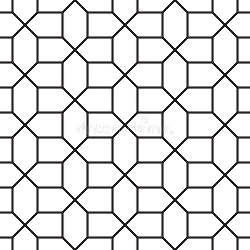 Modèle géométrique de vintage sans couture illustration de vecteur