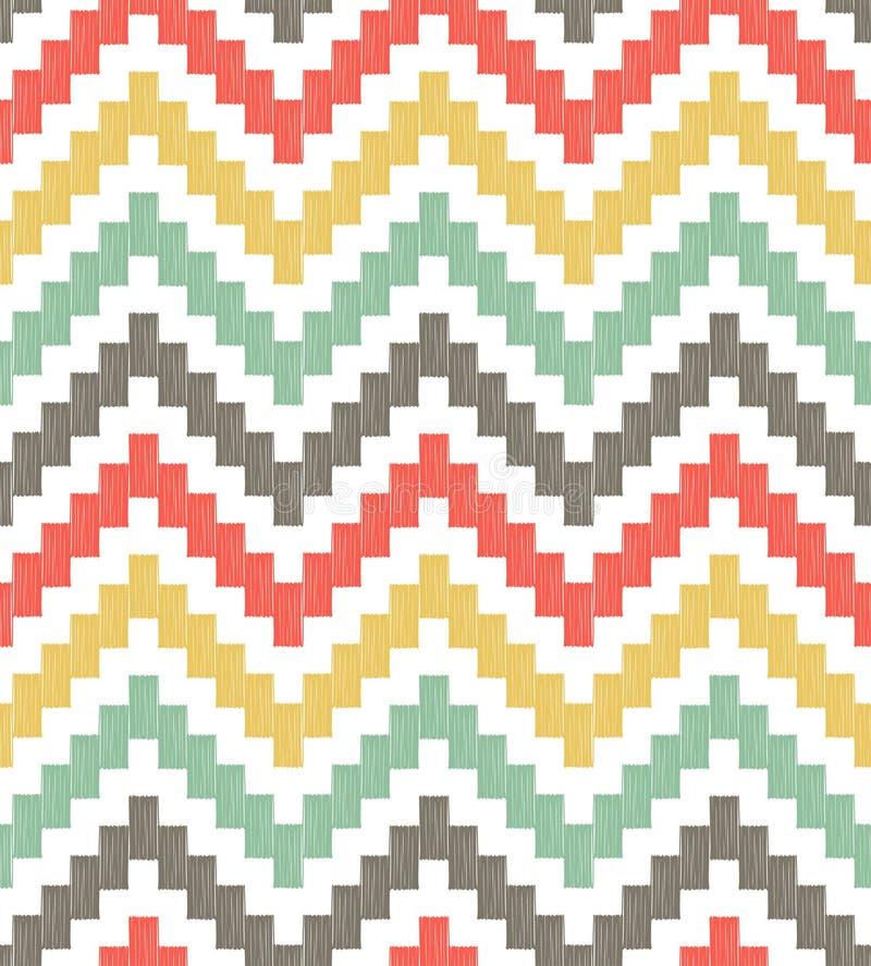Modèle géométrique de zigzag sans couture illustration libre de droits