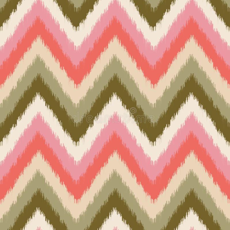 Modèle géométrique de zigzag sans couture illustration de vecteur