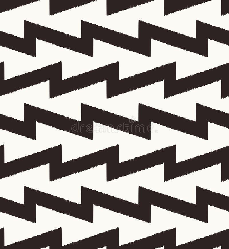 Modèle géométrique de zigzag sans couture illustration stock
