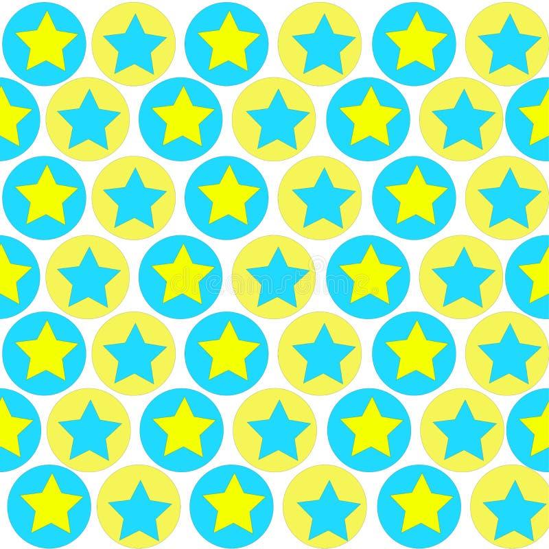 Modèle géométrique des cercles et des étoiles photographie stock libre de droits