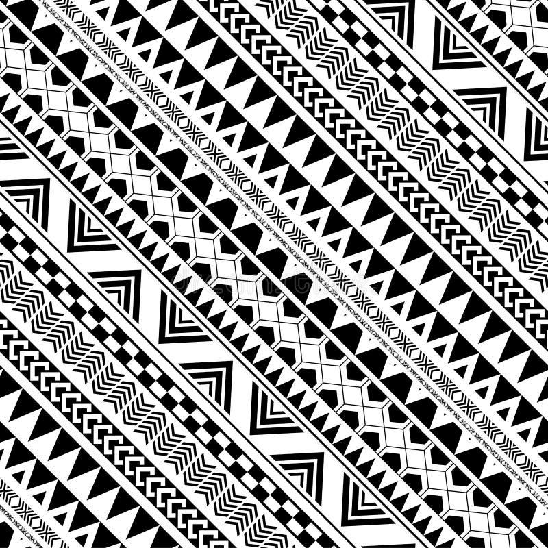 Modèle géométrique diagonal dans les Natifs américains illustration libre de droits