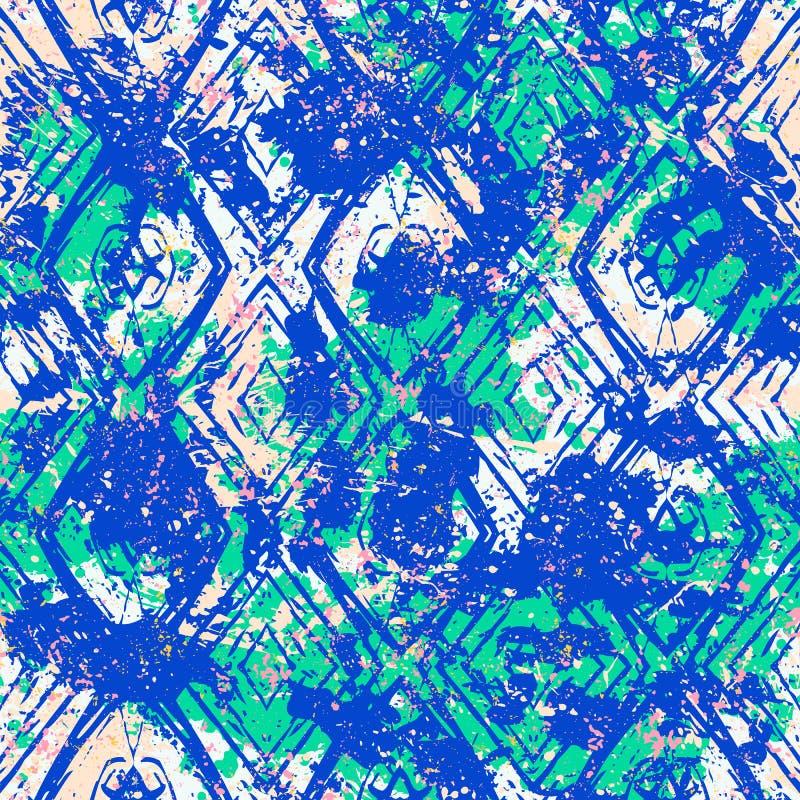 Modèle géométrique ethnique de vecteur illustration de vecteur