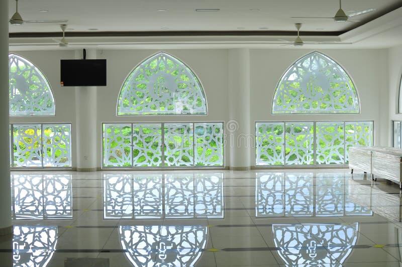 Modèle géométrique islamique traditionnel d'une mosquée dans Bandar Baru Bangi image stock