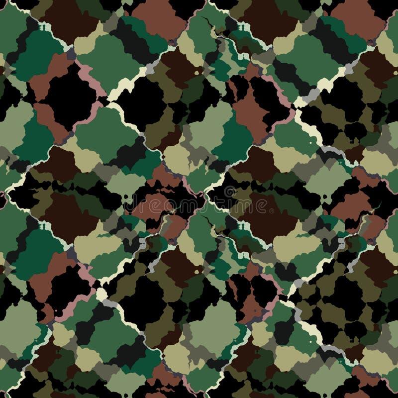 Modèle géométrique kaki abstrait sans couture illustration stock