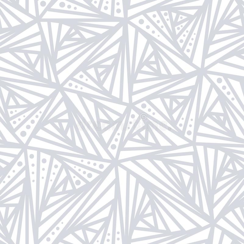 Modèle géométrique léger sans couture Lignes grises et blanches et fond de point Décoration de conception simple pour le papier p illustration stock