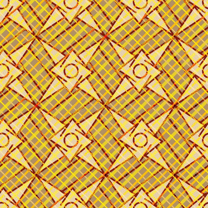 Modèle géométrique moderne brun et jaune lumineux illustration libre de droits