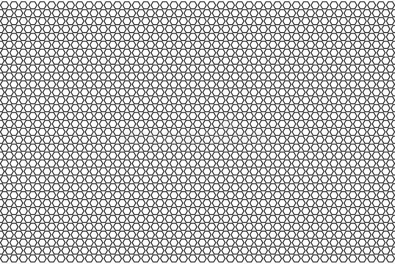 Modèle géométrique monochrome avec des nids d'abeilles illustration libre de droits