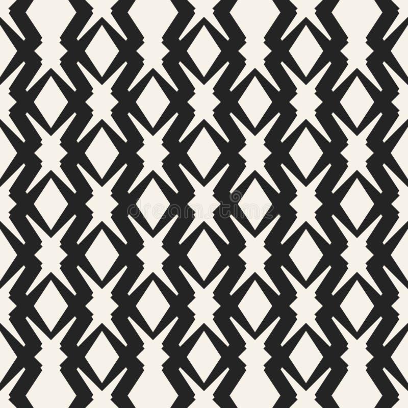 Modèle géométrique monochrome de vecteur abstrait de concept Fond minimal noir et blanc Calibre créatif d'illustration illustration de vecteur