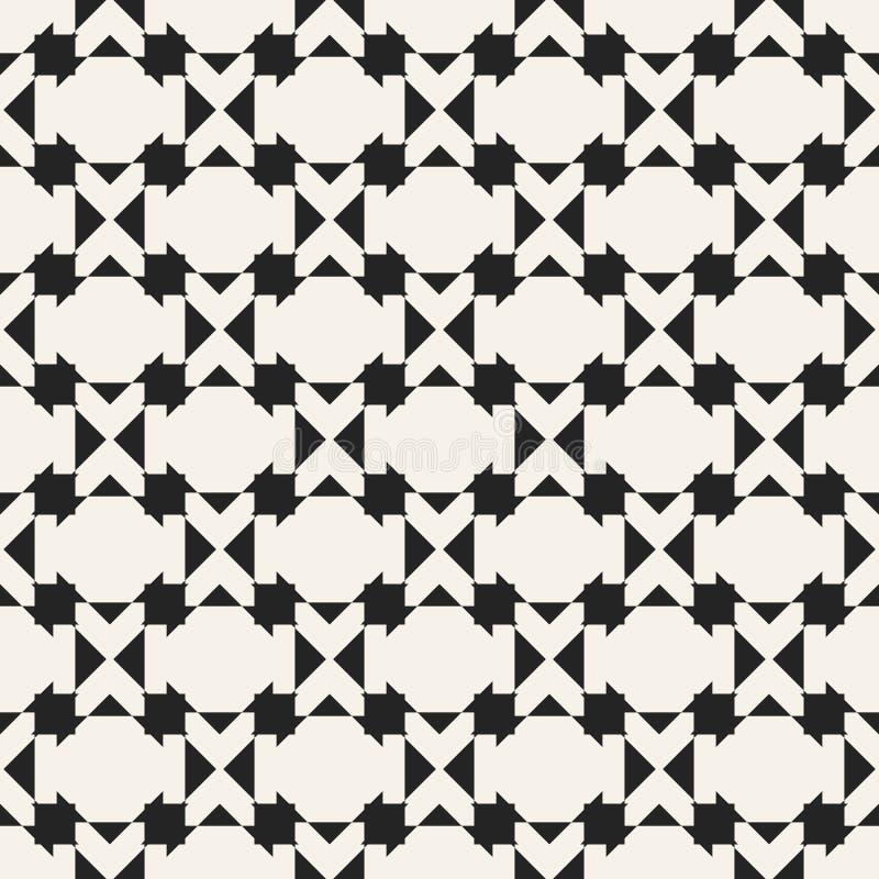 Modèle géométrique monochrome de vecteur abstrait de concept Fond minimal noir et blanc Calibre créatif d'illustration illustration libre de droits
