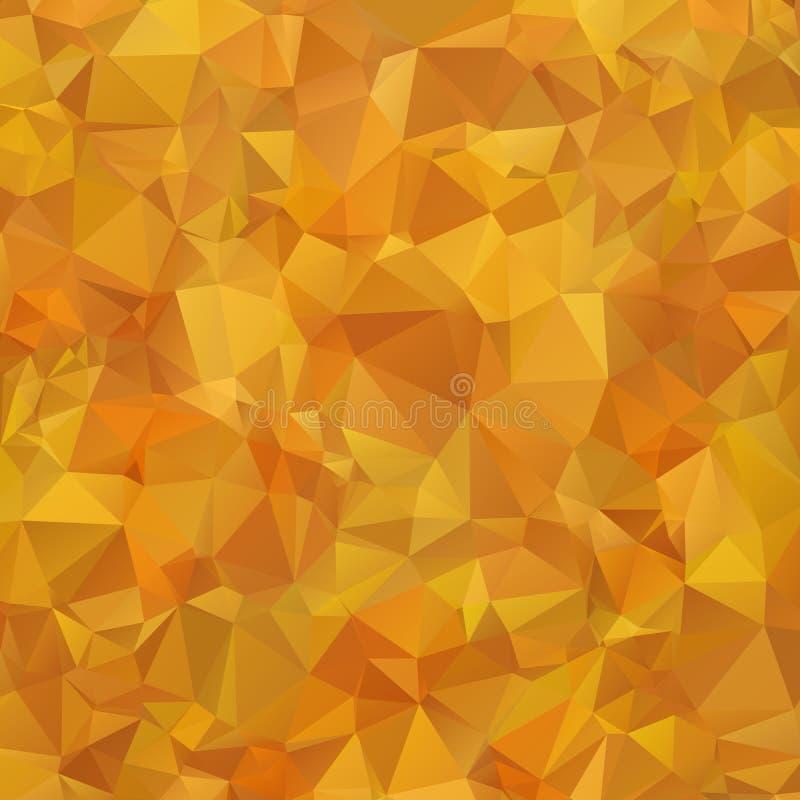 Modèle géométrique multicolore abstrait de gradient orange et brun Fond de triangles Abrégé sur polygonal trame pour votre concep illustration stock