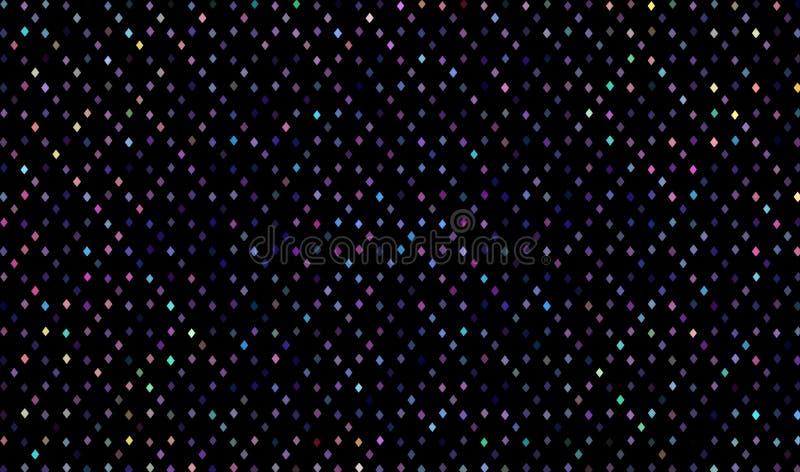 Modèle géométrique multicolore d'hologramme de mosaïque sur le fond noir illustration de vecteur