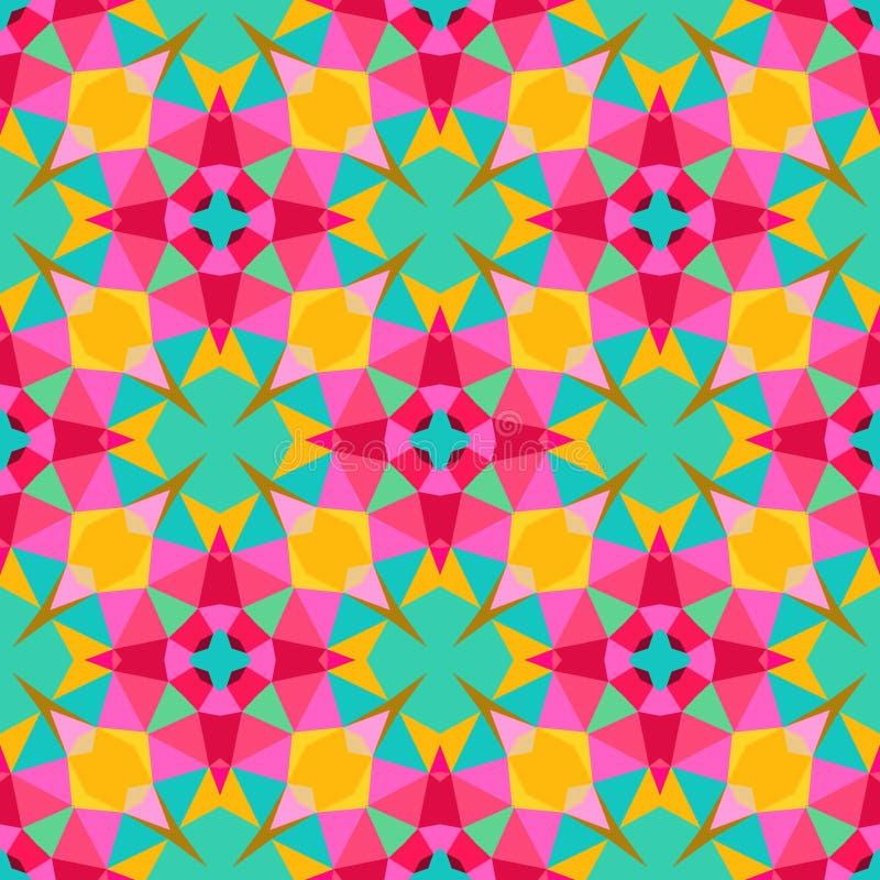 Modèle géométrique multicolore dans la couleur lumineuse. illustration de vecteur