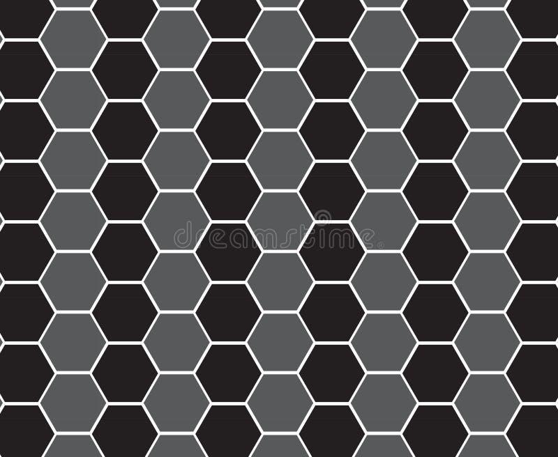 modèle géométrique noir de peigne Conception hexagonale de grille illustration de vecteur