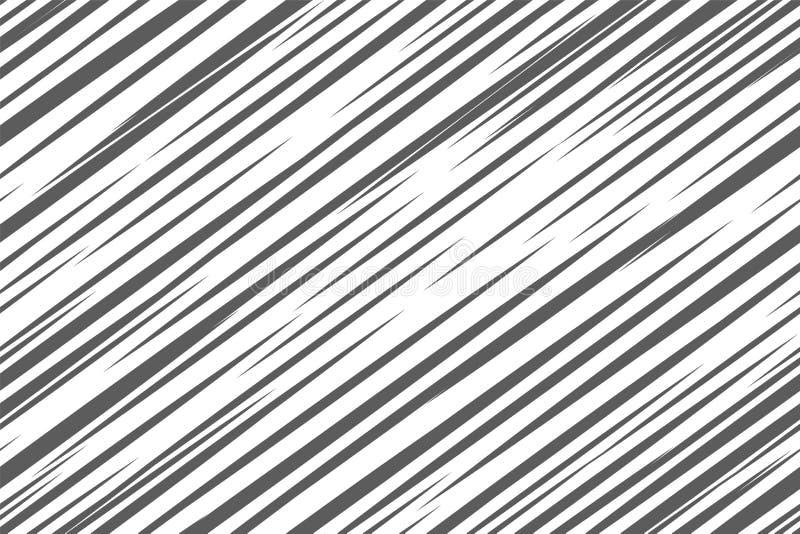 Modèle géométrique noir et blanc Fond abstrait sans joint Rayure de vecteur, lignes Ligne horizontale modèle de vitesse illustration de vecteur