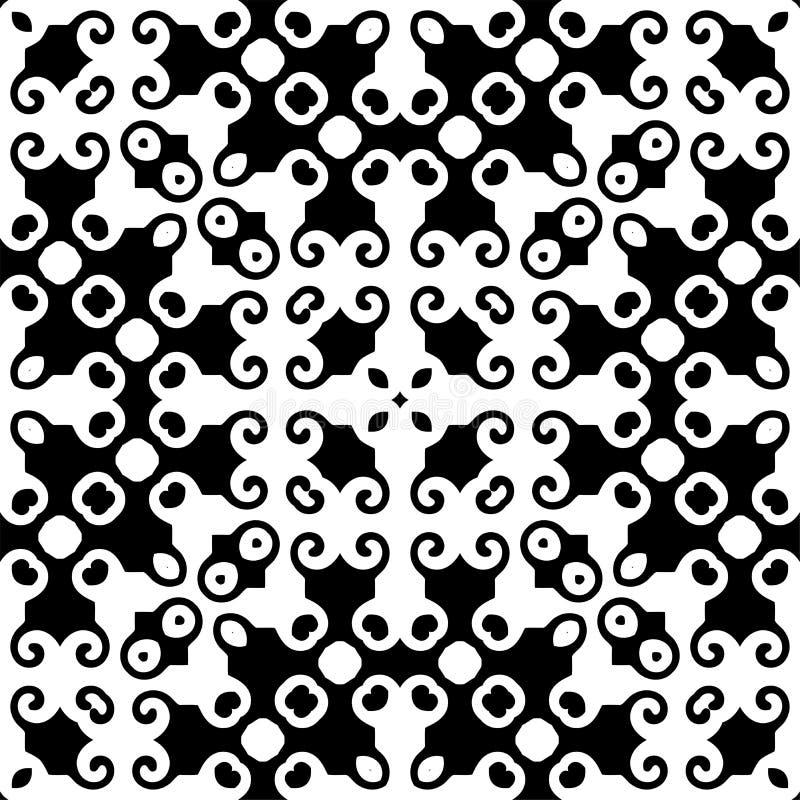 Modèle géométrique noir et blanc sans couture illustration libre de droits