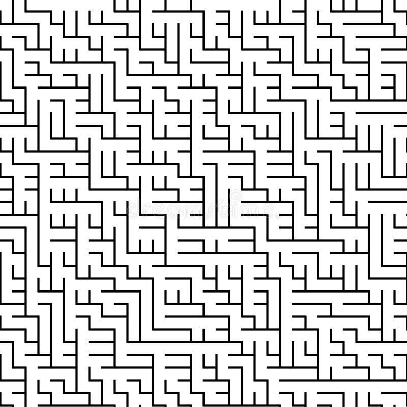Modèle géométrique noir et blanc sans couture de trame illustration stock