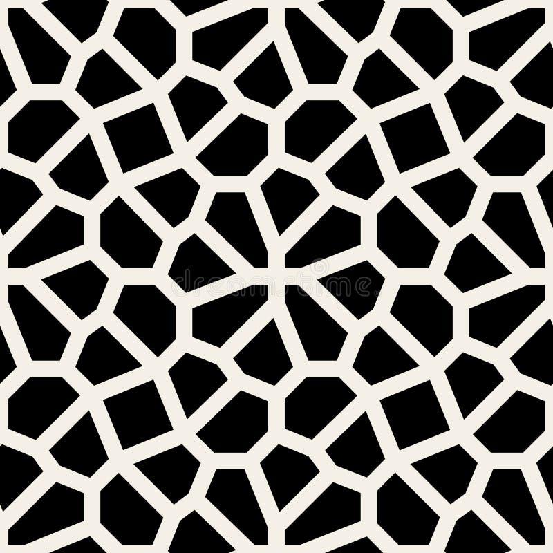Modèle géométrique noir et blanc sans couture de trottoir de dentelle de vecteur illustration de vecteur