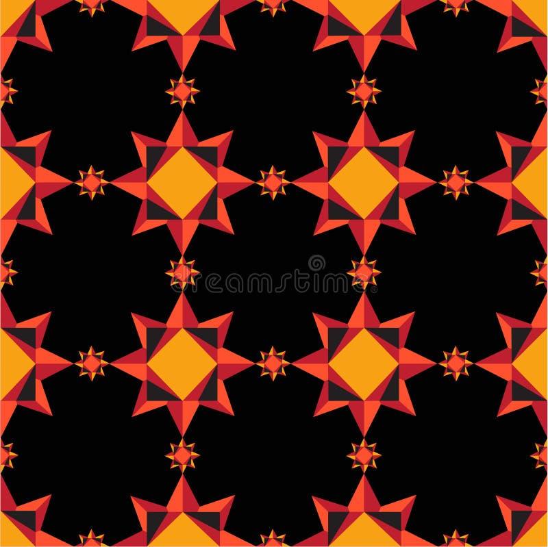 Modèle géométrique orange illustration libre de droits