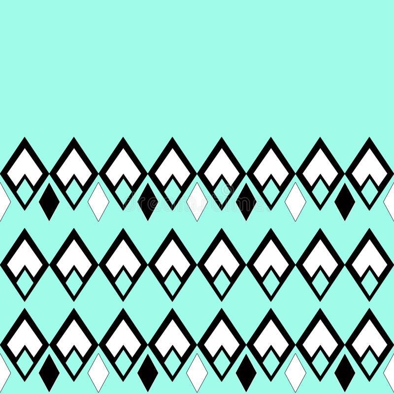 Modèle géométrique ornemental sans couture en turquoise illustration de vecteur