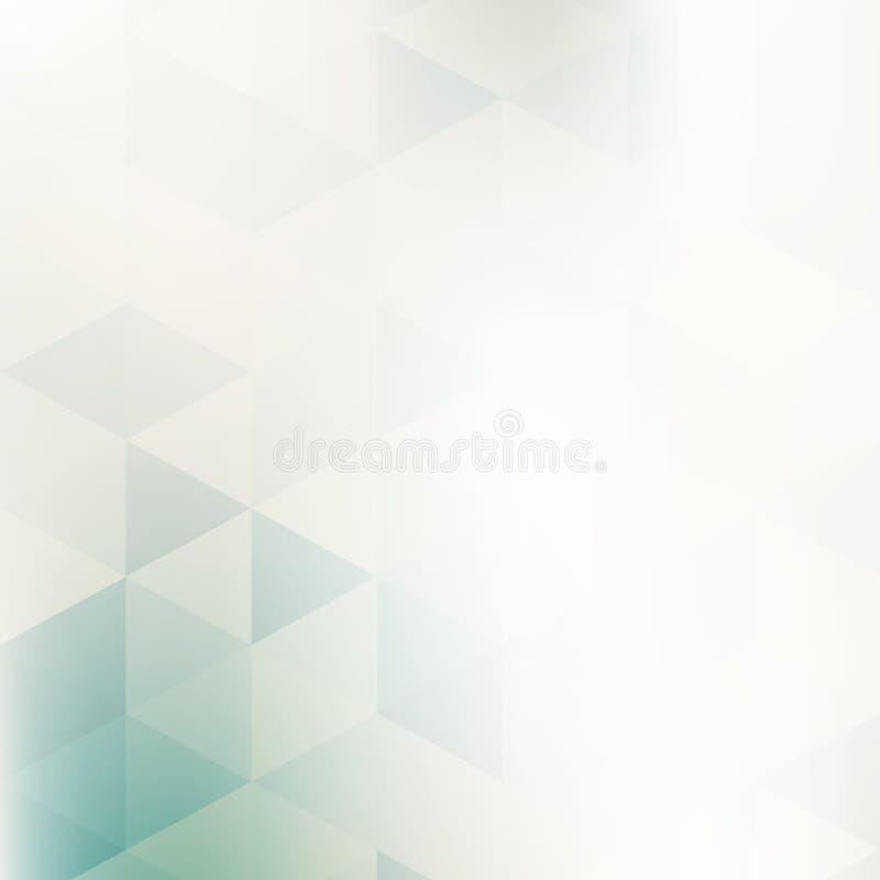 Modèle géométrique pâle avec des triangles Fond de vecteur illustration de vecteur