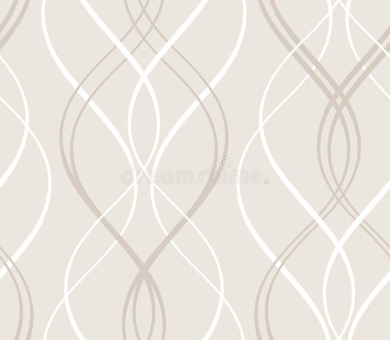 Modèle géométrique sans couture abstrait avec la ligne onduleuse illustration stock