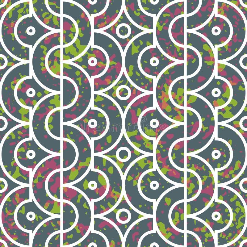 Modèle géométrique sans couture avec des demi-cercles illustration de vecteur