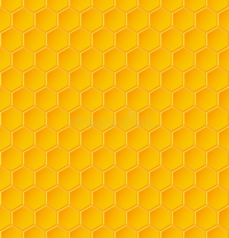 Modèle géométrique sans couture avec des nids d'abeilles illustration libre de droits