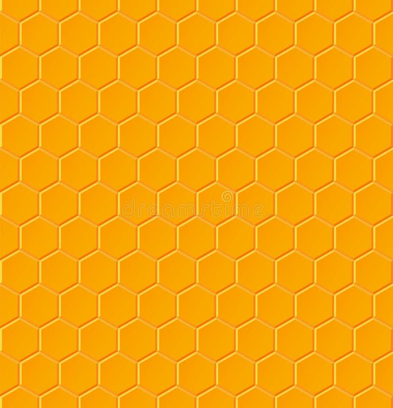 Modèle géométrique sans couture avec des nids d'abeilles illustration de vecteur