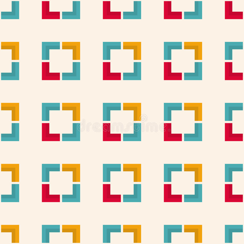Modèle géométrique sans couture avec des places et des formes angulaires illustration stock