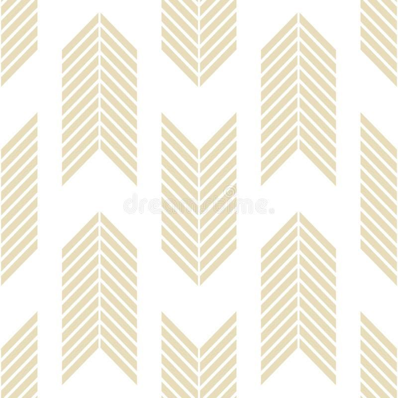 Modèle géométrique sans couture avec les lignes rayées illustration stock