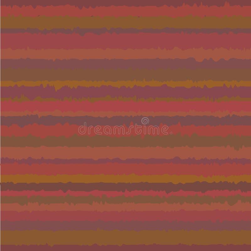 Modèle géométrique sans couture avec les rayures bruyantes Fond ondulé coloré abstrait dans des couleurs chaudes illustration stock