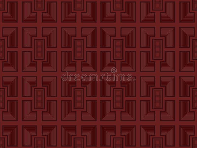 Modèle géométrique sans couture dans le rétro style Éléments décoratifs de meubles Vecteur illustration libre de droits