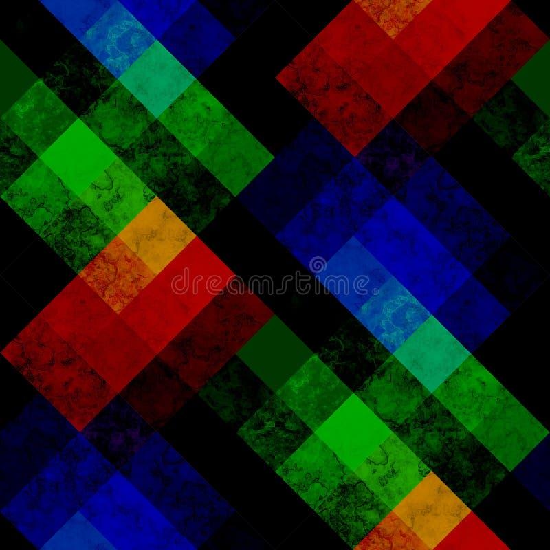 Modèle géométrique sans couture dans lumineux illustration de vecteur