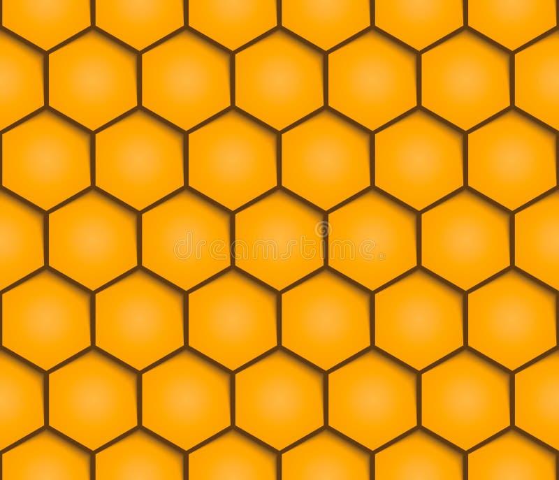 Modèle géométrique sans couture de fond abstrait de nids d'abeilles illustration de vecteur